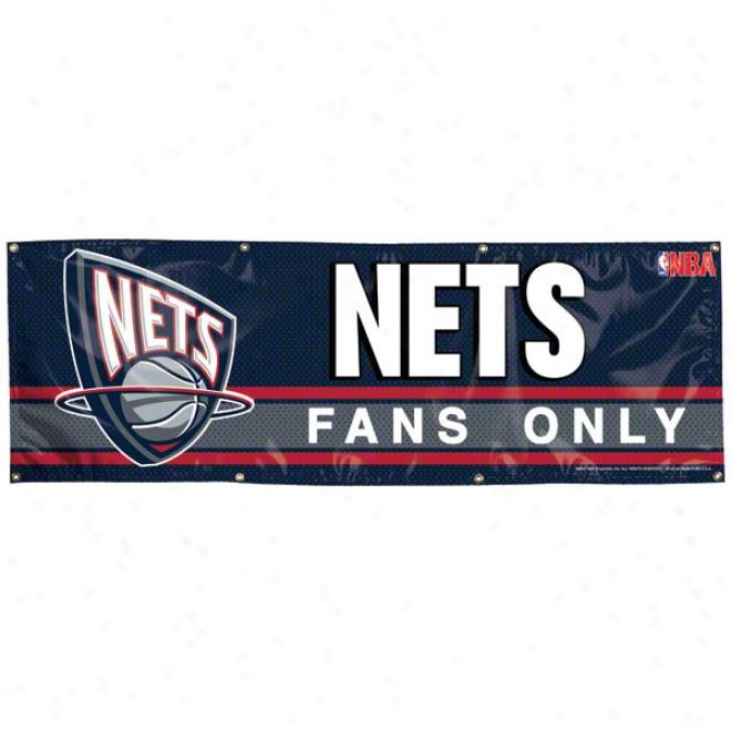 New Jersey Nets 2x6 Vinyl Bannner