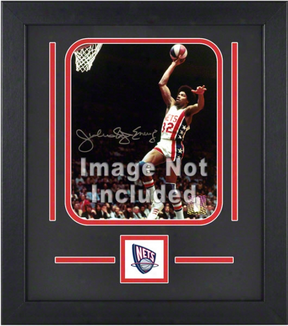 New Jersey Nets 8x10 Vertical Sdtup Frame With Team Logo