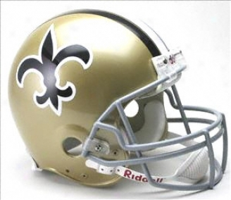 New Orleans Saints 1967-1975 Authentic Pro Line Riddel Throwback Full Size Helm