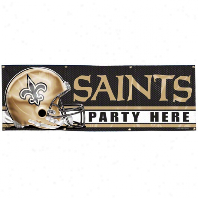 New Orleans Saints 2x6 Vinyl Banner