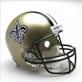 New Orleans Saints Deluxe Replica Riddell Full Sjze Helmet