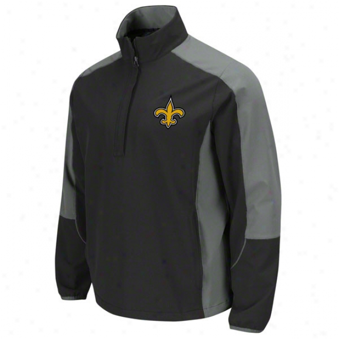 New Orleans Saints Determination Lightweight Performance Pull-over Jacket