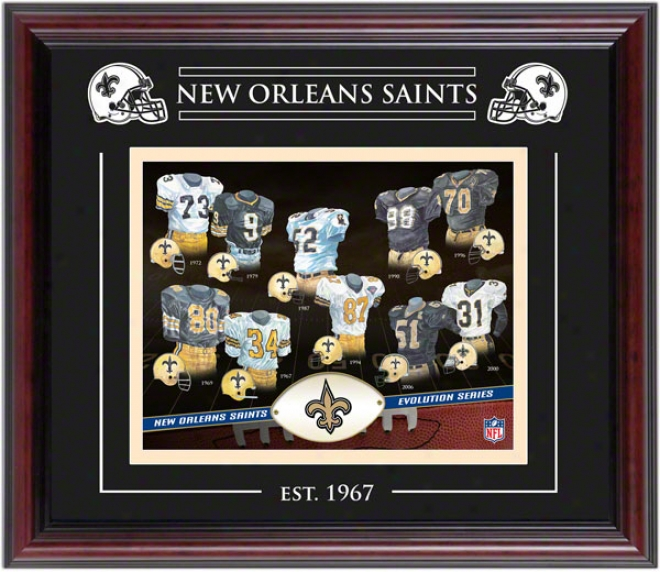 New Orleans Saints - Movement - Framed 8x10 Collage With Laser Etching