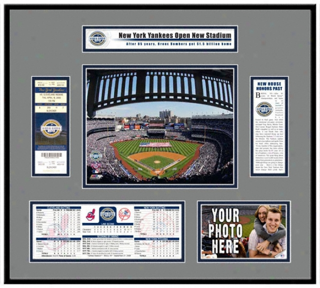 New Yankee Stadium Inaugural Game 2009 First Day Ticket Frame