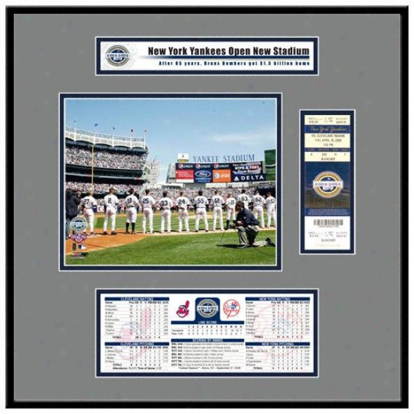 New Yankee Stadium Inaugural Game 2009 Opening Day Ticket Frame Jr.