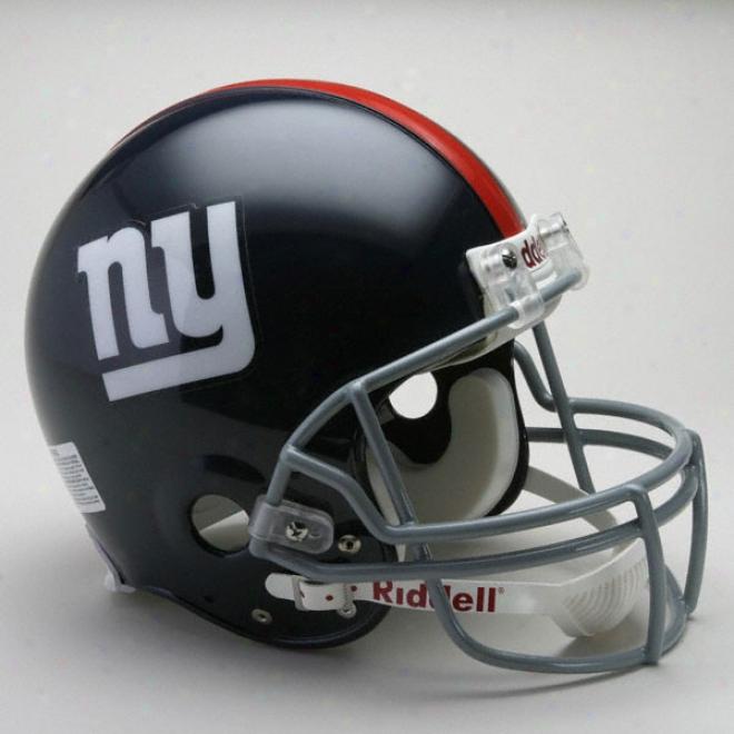 Repaired York Giants 1961-1974 Authentic Pro Line Riddell Throbwack Full Size Helmet