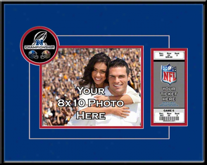 New York Giants 2011 Nfc Championship Gam3 Your 8x10 Photo And Ticket Frame