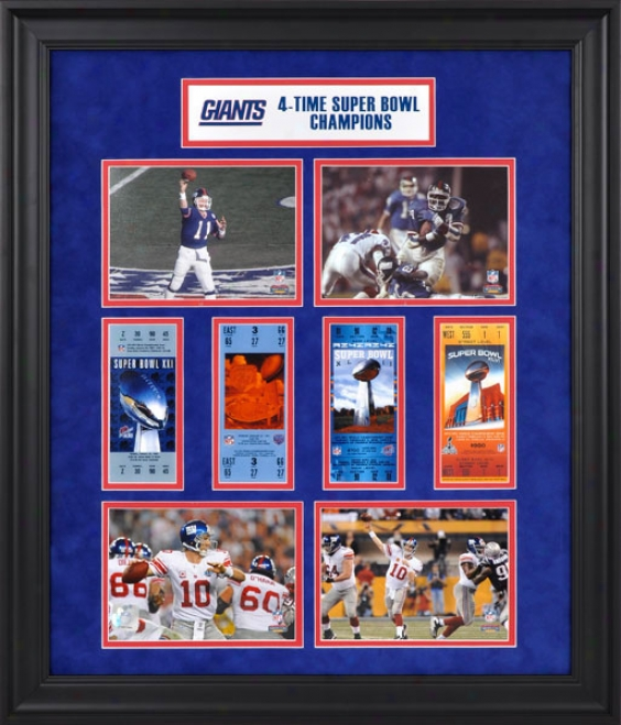 New York Giants Framed Ticket Collage  Details: Super Bowl Xlvi Champions