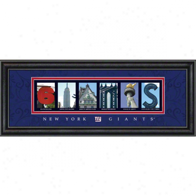 New York Giants Letter Art