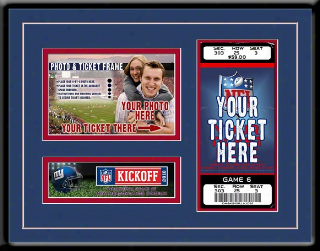 New York Giants New Meadowlands Stadium Inaugural Made of ~ Photo & Ticket Frame