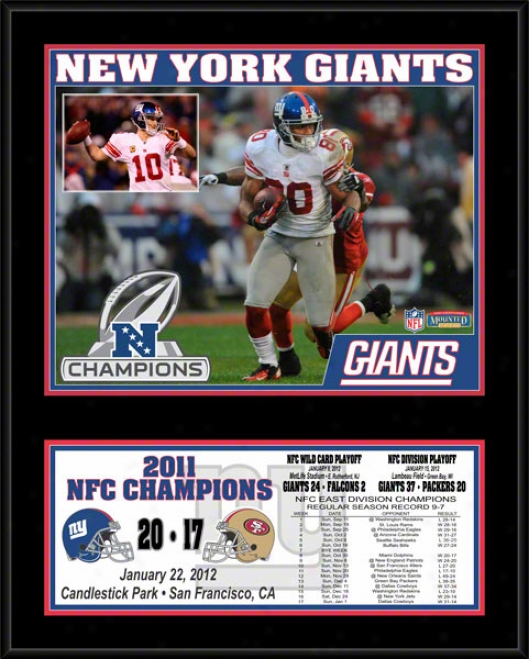 New York Gianst Sublimated 12x15 Plaque  Details: 2011 Nfc Champions
