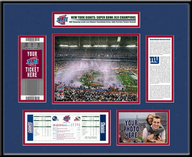 New York Giants Super Bowl Xlii Champions Untorn Ticket Condition