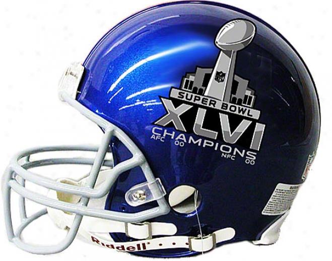 New York Giants Super Bowl Xlvi Champions Mini Helmet
