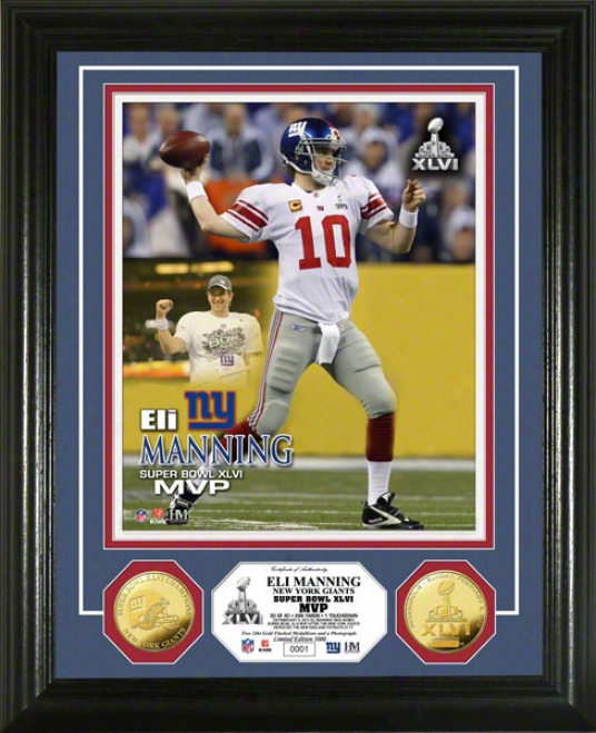 Unaccustomed York Giants Super Bowl Xlvi Champions Mvp Gold Coin Photo Mint