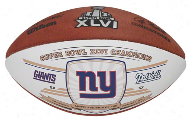 New York Giants Super Bowl Xlvi Champions Official Football