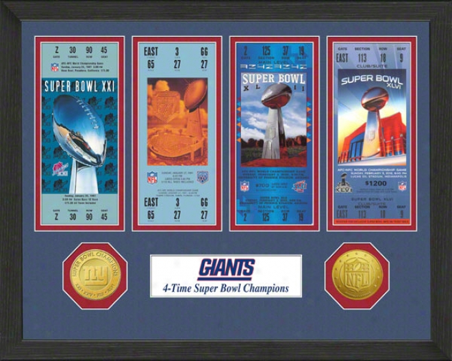 New York Giants Super Bowl Xlvi Championship Ticket Collection