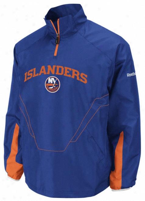 New York Islanders Ceter Ice 1/4 Zip Hot Jcket