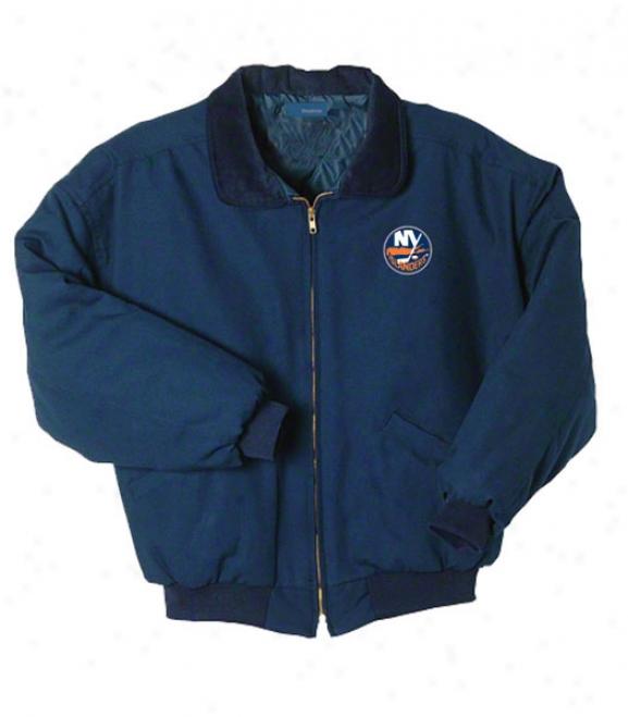 New York Islanders Jacket: Blue Reebok Saginaw Jacket