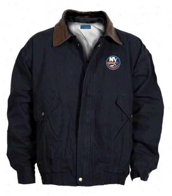 New York Islanders Jacket: Navy Reebok Navigator Jacket