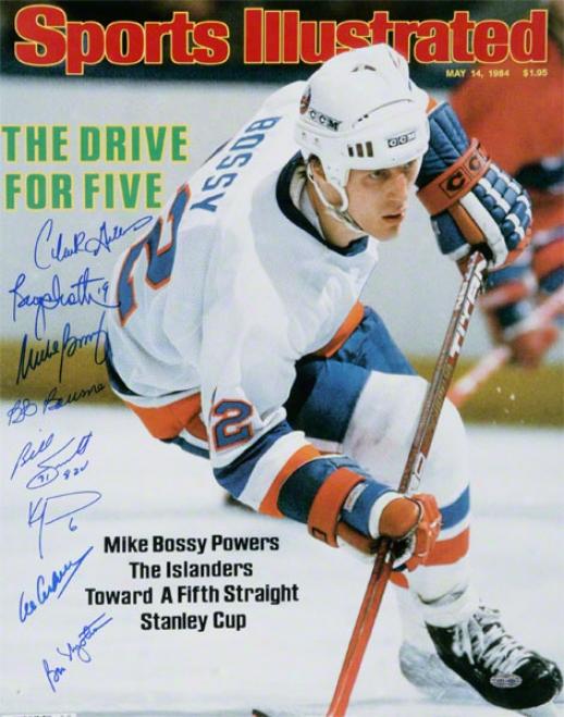 New York Islanders - Sports Illusfratde - Autographed 16x20 Photograph