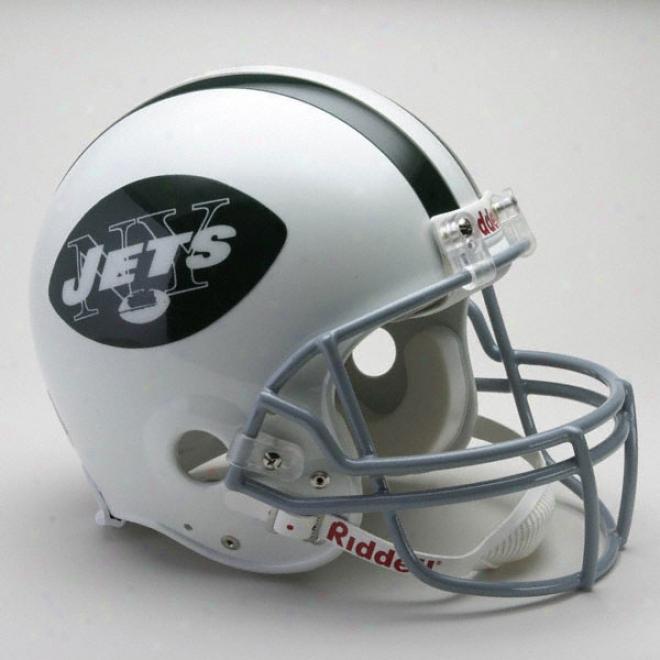 New York Jets 1965-1977 Authentic Pro Line Riddell Throwback Full Size Helmet