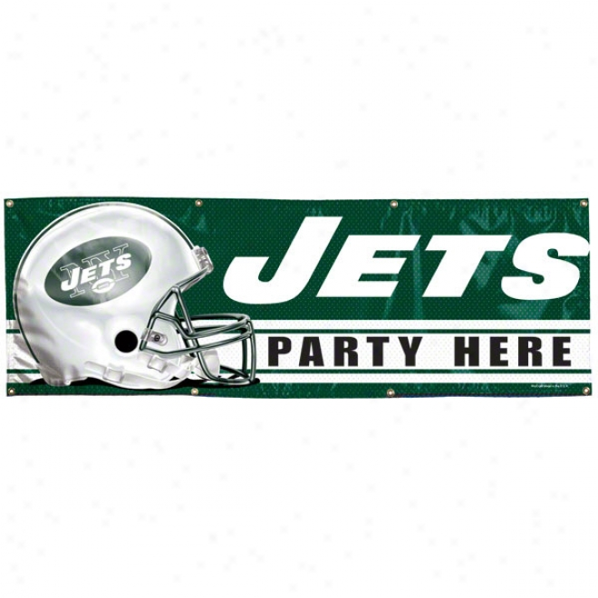 New York Jets 2x6 Vinyl Banner