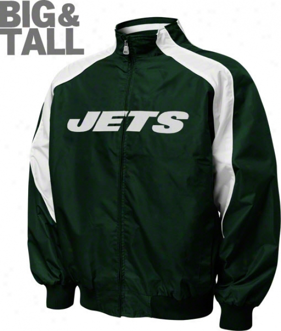 New York Jets Big & Tall Textured Full-zip Jacket