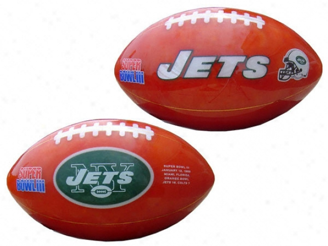 New York Jets Cut-stone Footbali