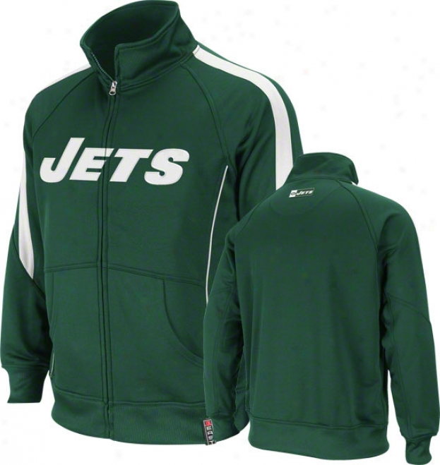 New York Jets Green Tailgate Time Track Jacket