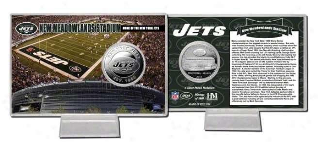 New York Jets New Meadowlands Stadium Silver Coin Card