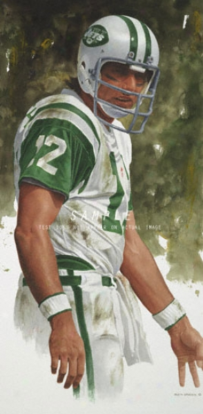 New York Jets - &quotnamath&quot - Large - Unframed Giclee