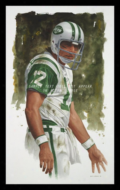 Unaccustomed York Jets - &quotnamath&quot - Oversized - Framed Giclee