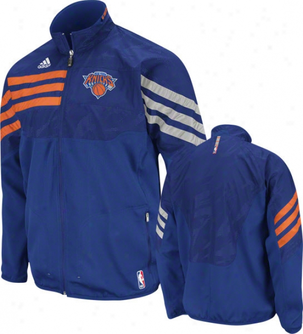 New York Kniccks Blue 2011-2012 Eastern Conference On-court Warm-up Jacket