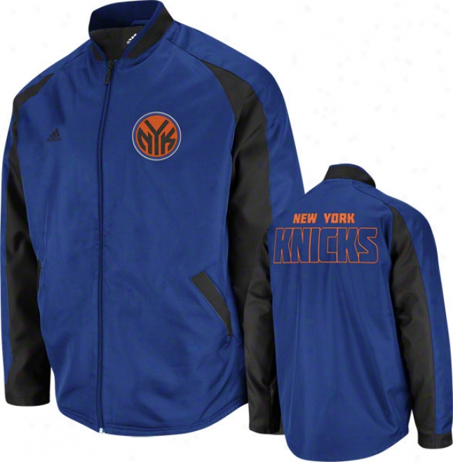 New York Knicks Blue Tip Off Midweight Jacket