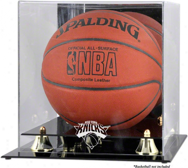 New York Knicks Golden Classic Logo Basketball Display Case