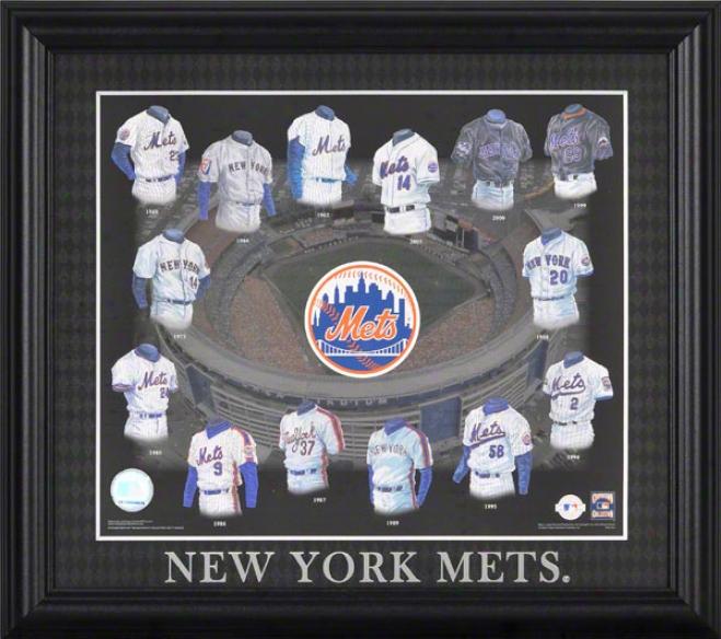 New York Mets 13x15 Framed Print  Details: Evolution