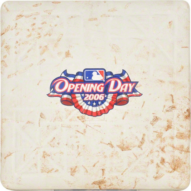 New York Meets 2006 Home Opener Vs. Nationals Unsigned Game Used Base