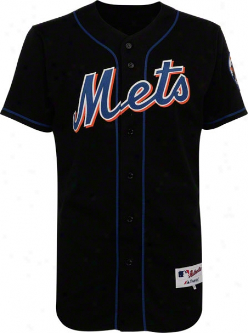 New York Mets Alternate Black Authentic Mlb Jersey