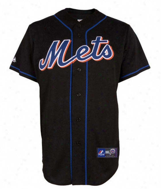 New York Mets Alternate Black Mlb Autograph copy Jersey