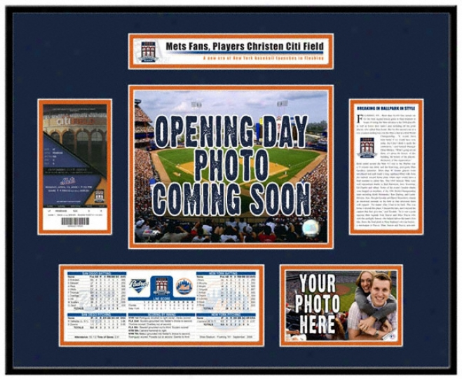 New York Mets Citi Field Inaugural Game 2009 Openig Day Ticket Frame