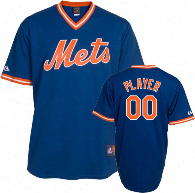 New York Mets Cooperstown Royal -any Player- Replica Jersey