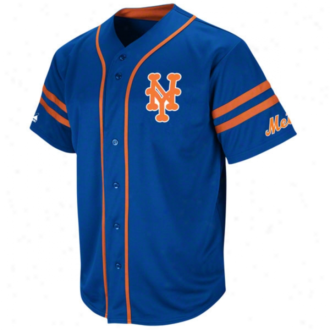New York Mets Cooperstown Royal Heater Fashion Jersey