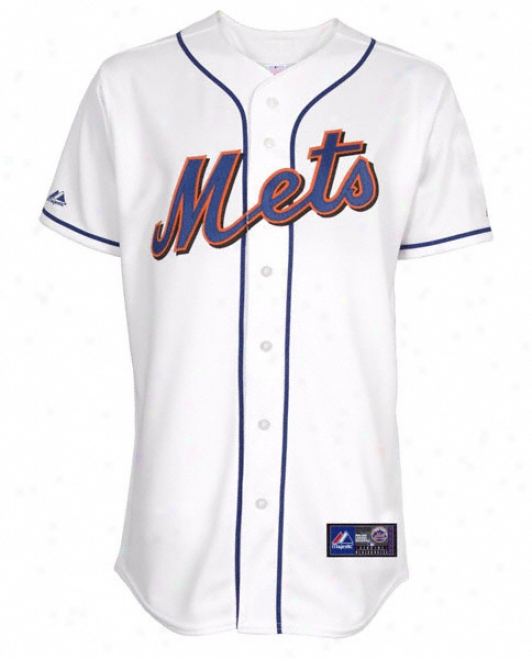 New York Mets Home White Mlb Replica Jersey