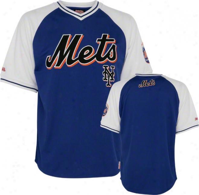 New York Mets Jersey: Stitches Royal V-neck Jersey