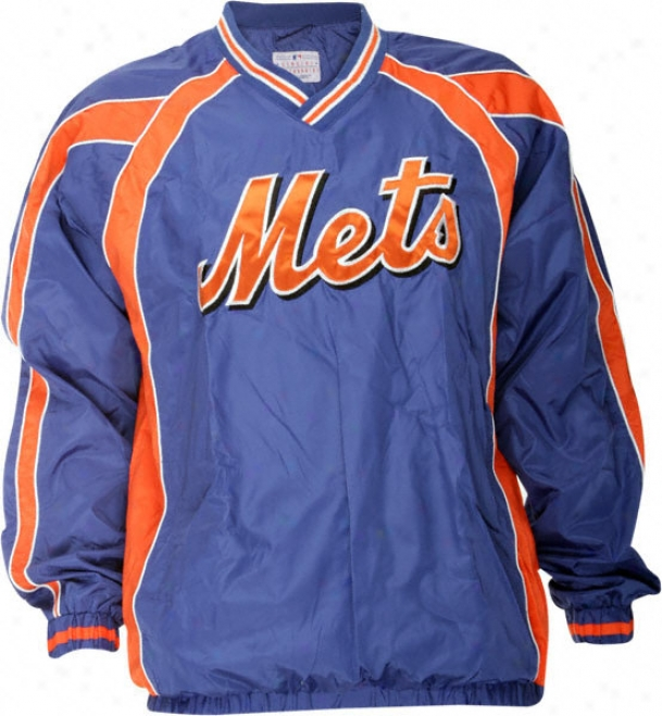 New York Mets Lightweight V-neck Pullover Jacket