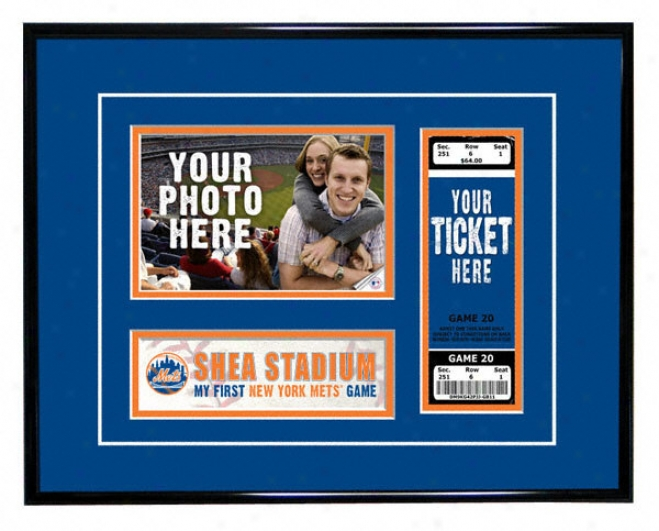 New York Mets - My First Game - Ticket Frame