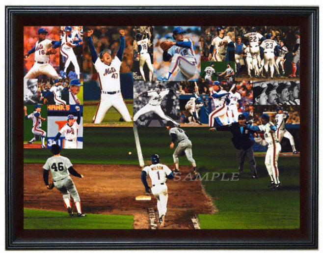 New York Mets - &quotmets Miracle Of 86&quot - Large - Framed Giclee