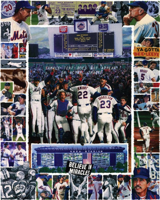 New York Mets - &quotshea Memories&quot - Large - Unframed Giclee