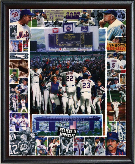 New York Mets - &quotshea Memories&quot - Overslzed - Framed Giclee
