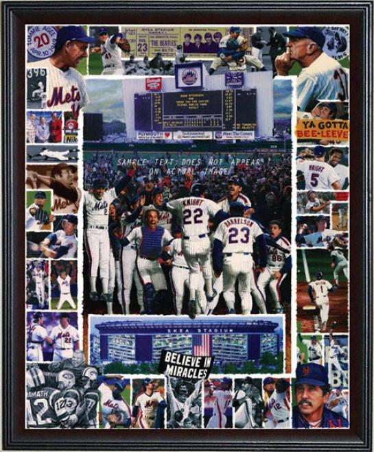 New York Mets - &quotshea Memories&quot - Wall - Framed Giclee